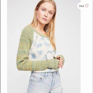 Free People Dewdrop Pullover Tie Dye Sweater